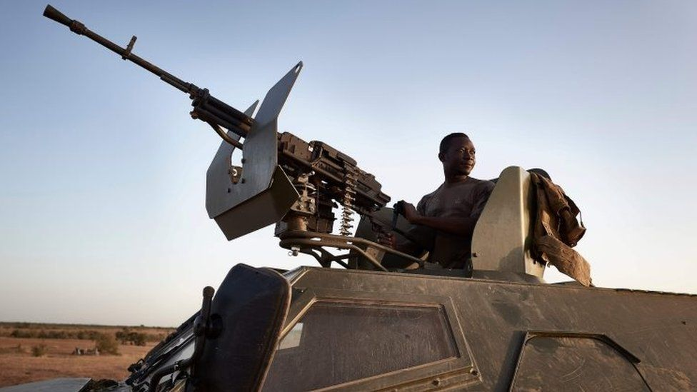 A soldier of the Burkina Faso army on patrol in Soum province. File photo