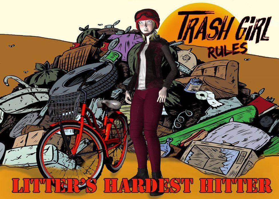 """Trash Girl"" cartoon"