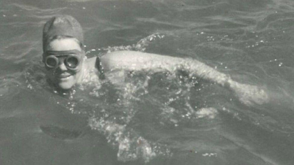 Jenny James swimming