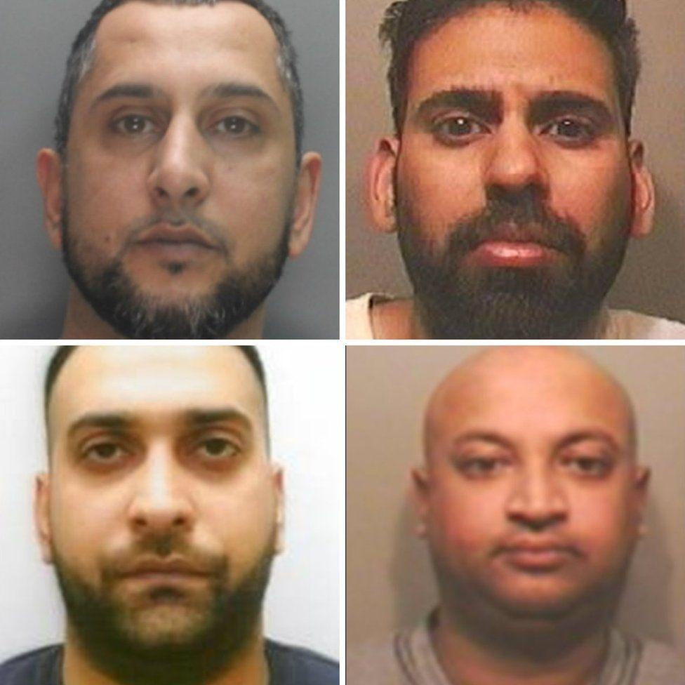 Clockwise from top left: Mohammed Aakil, Mohammed Irfan, Rumel Hussain, Mohammed Waqas