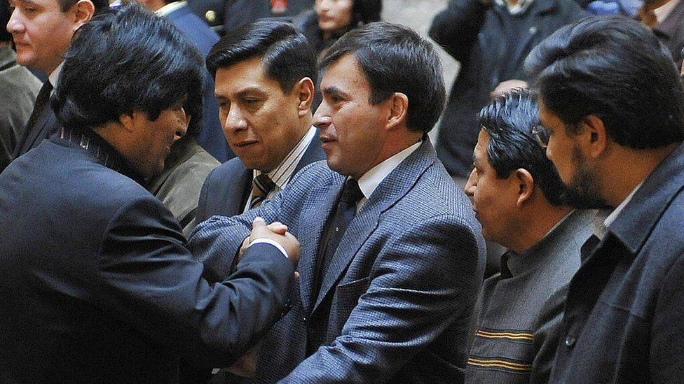 Juan Ramón Quintana y Evo Morales