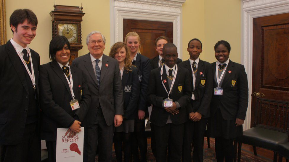 School Reporters and Sir Mervyn King