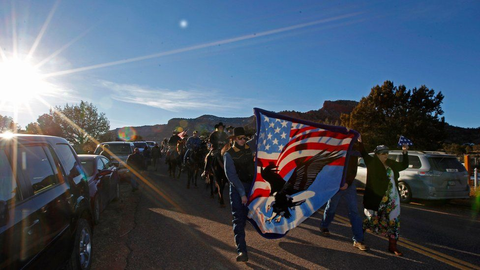 """Funeral procession for Robert """"LaVoy"""" Finicum"""