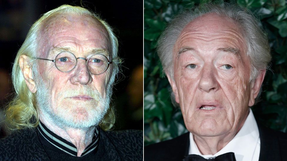 Richard Harris, pictured in 2001, and Sir Michael Gambon