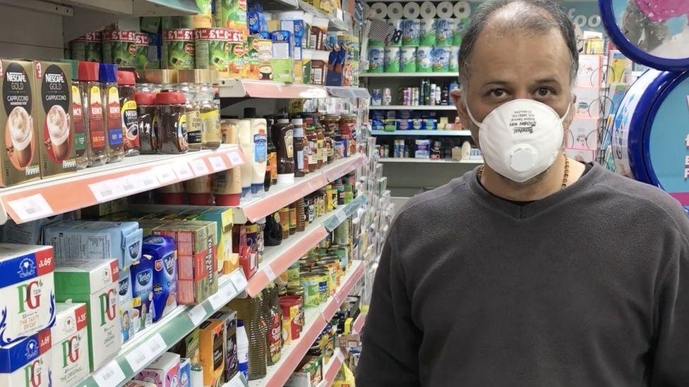 A shop worker