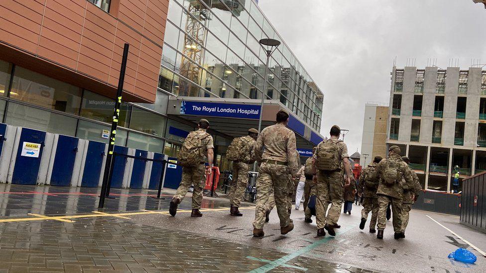 Army at Royal London Hospital