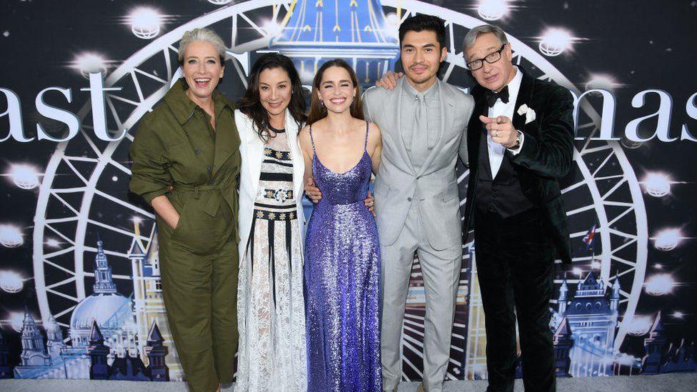 Emilia at the Last Christmas premiere