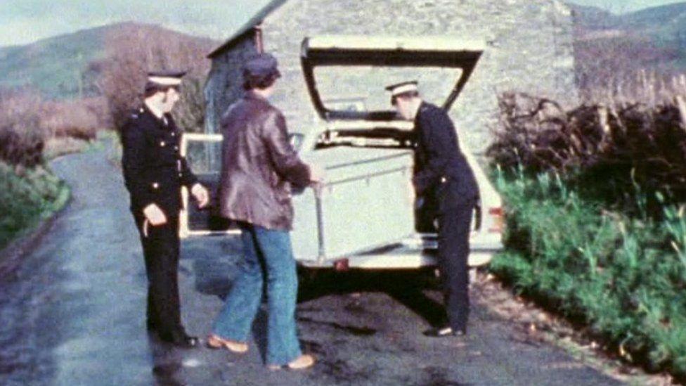 News footage of Operation Julie