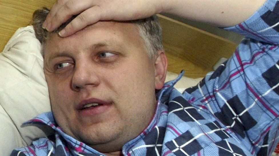 Sheremet on a hospital bed in Belarus - 2004 file pic