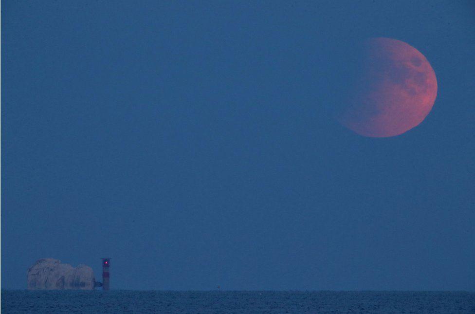 16 July 2019's partial eclipse from Avon beach in Mudeford, Dorset