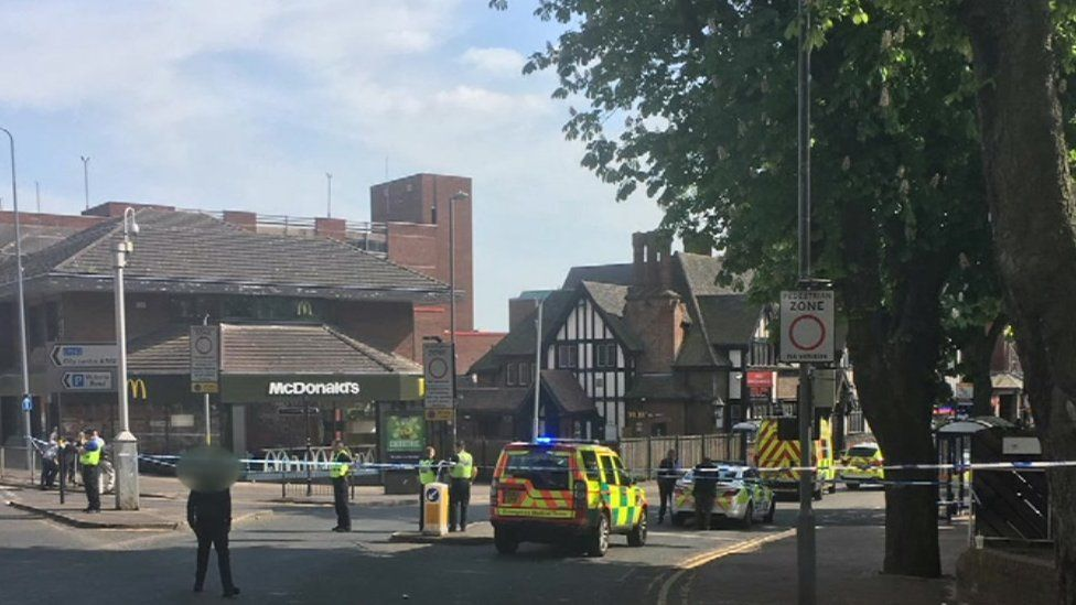 The scene of the crime in Lower Parade, Sutton Coldfield