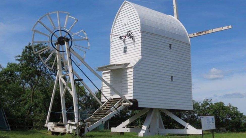 Great Chishill Windmill after restoration