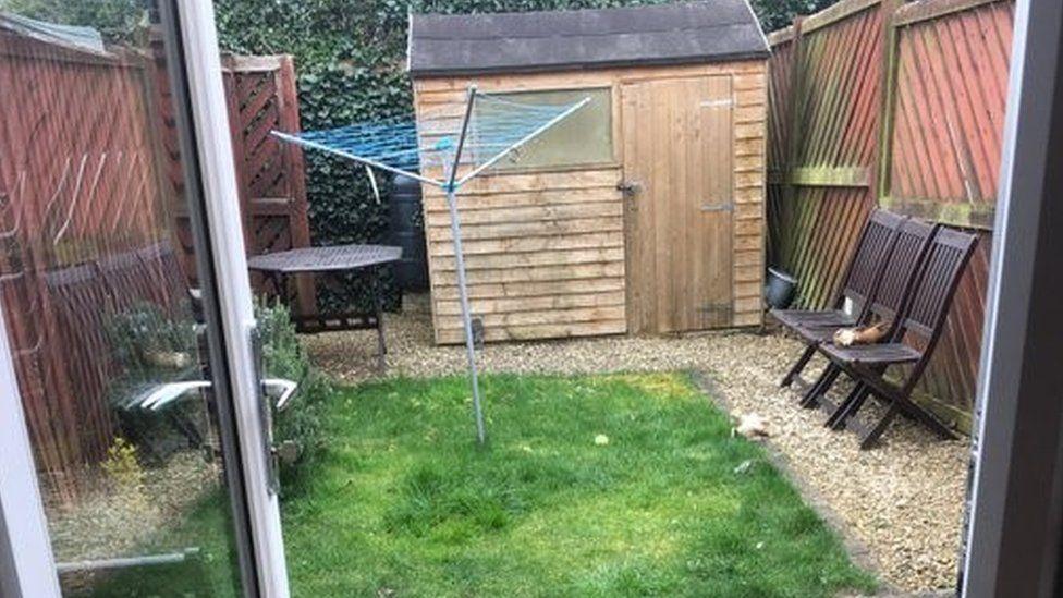 James Campbell's back garden