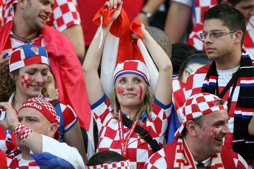 Croatia fans, 2006 file pic