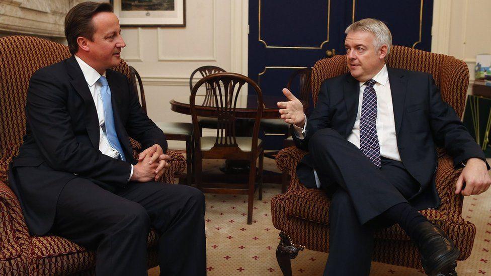 David Cameron a Carwyn Jones