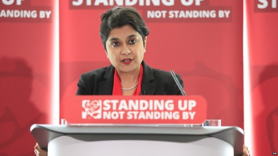 Baroness Chakrabarti at the launch of her anti-Semitism report in 2016