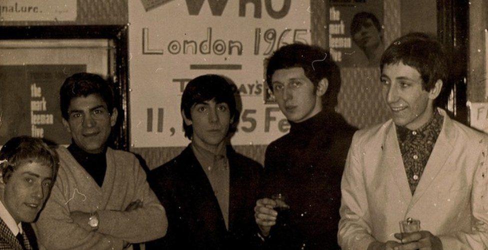 The Who and Fery Asgari in 1965