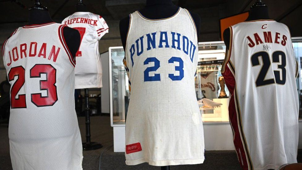 Sports shirts worn by Michael Jordan, Colin Kapaernick, Barack Obama and LeBron James sold for hundreds of thousands of dollars