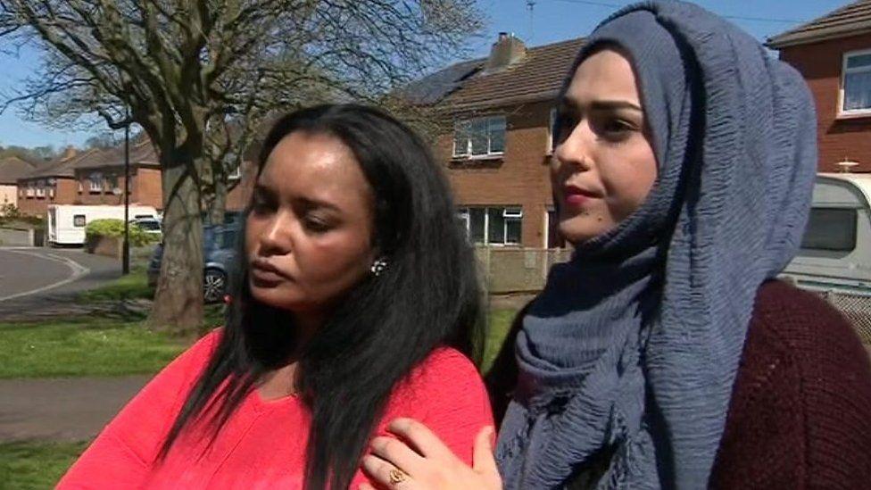 Maaza Hafiz (left) and Tayba Limon (right)