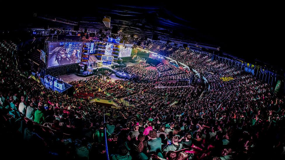 eSports fans fill stadiums to watch the world's best gamers compete