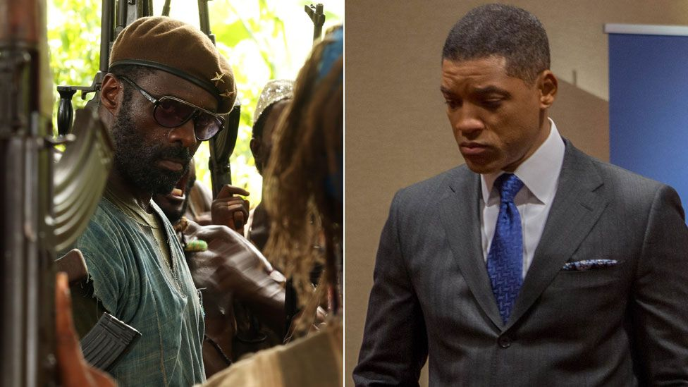 Idris Elba in Beasts of No Nation and Will Smith in Concussion