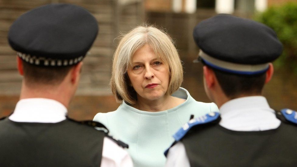 Theresa May police officers