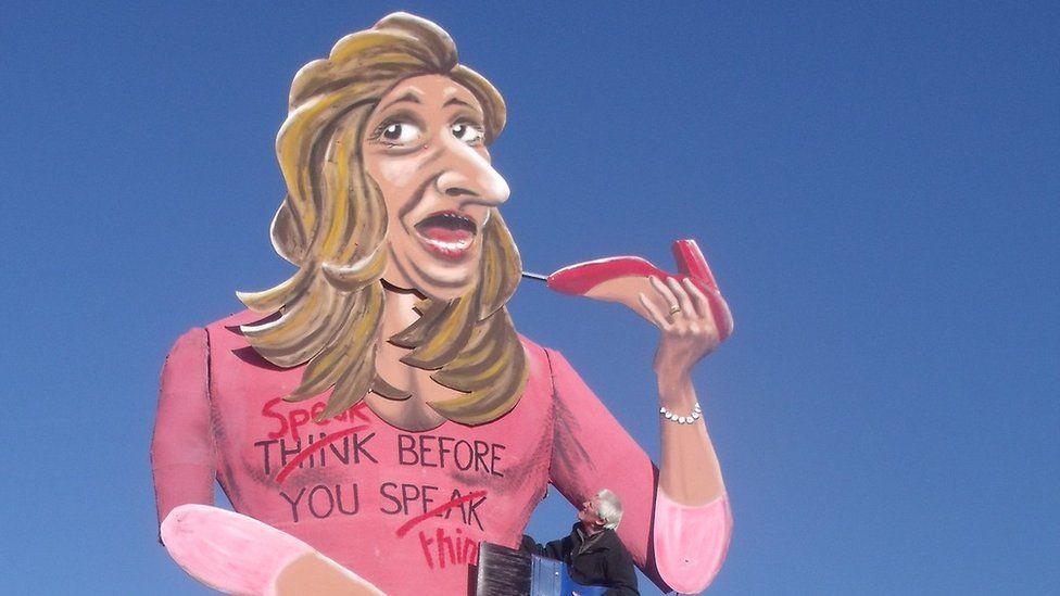 Katie Hopkins effigy