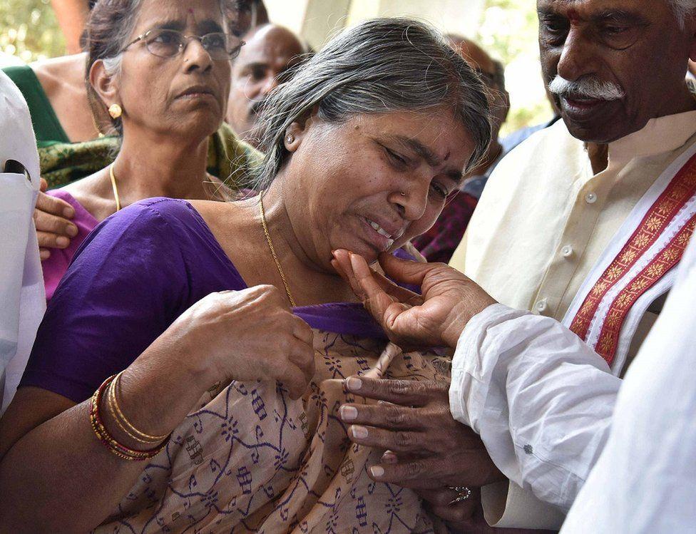 Kuchibhotla's mother