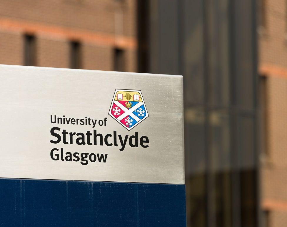 Strathclyde University sign