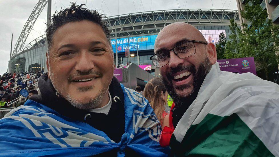 Ciro Ciampi and Marc Arena at Wembley