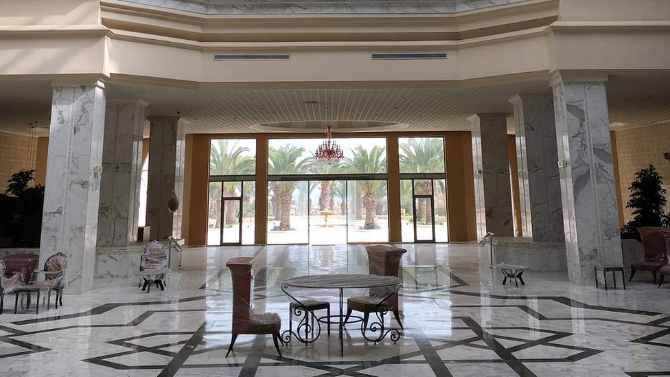 Hall of Marhaba hotel lobby
