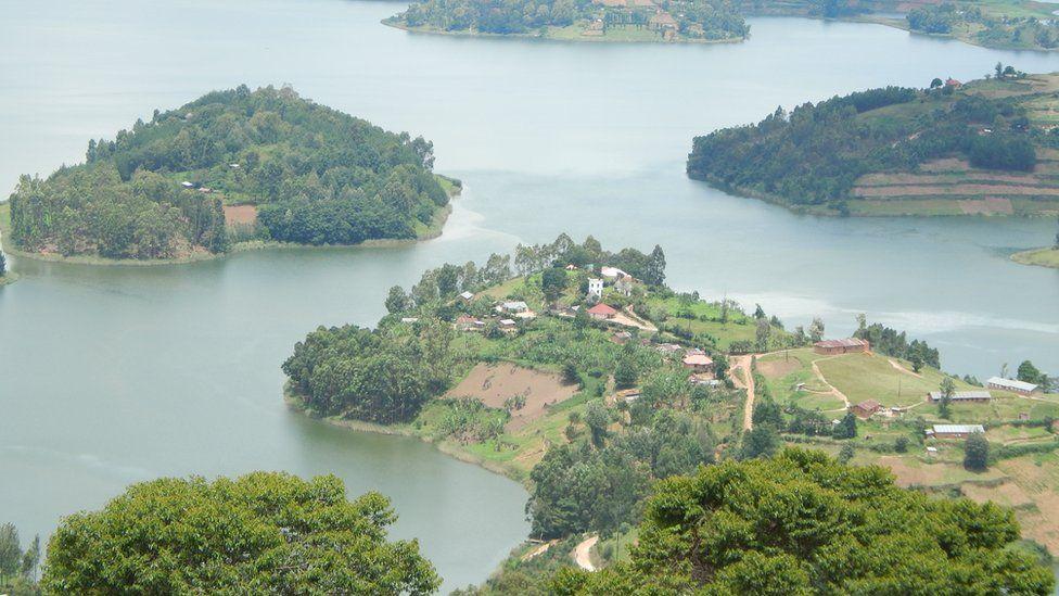 Some of the islands on Lake Bunyoyi