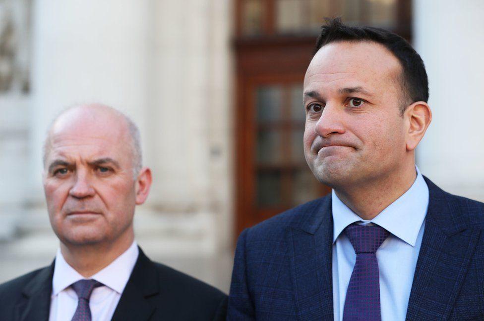 Taoiseach Leo Varadkar and Dr Tony Holohan