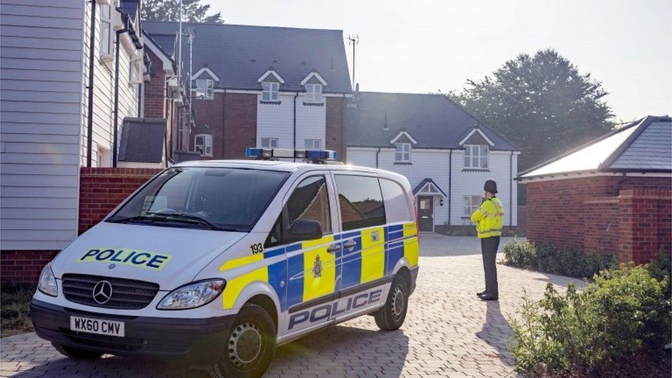 Amesbury house where the couple were found