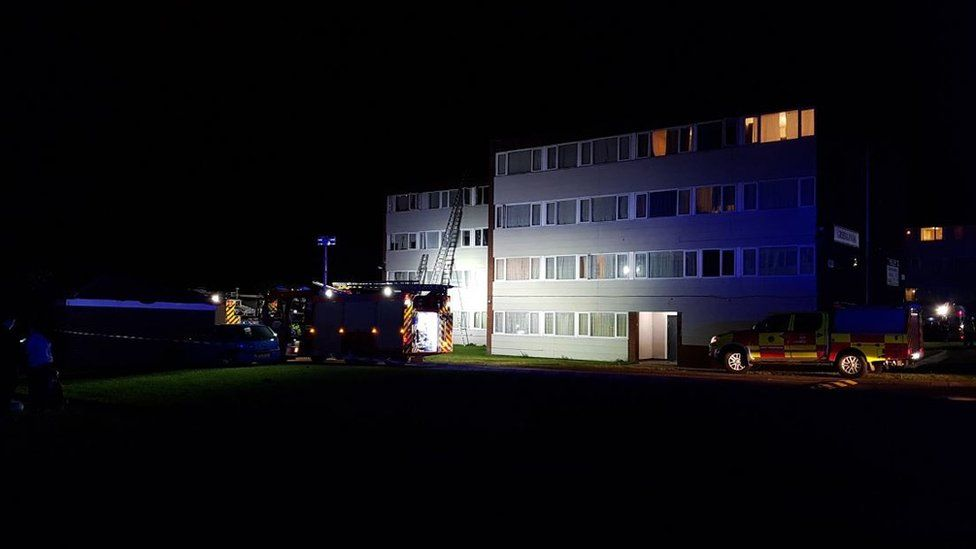 Emergency services at Greenlawns flats