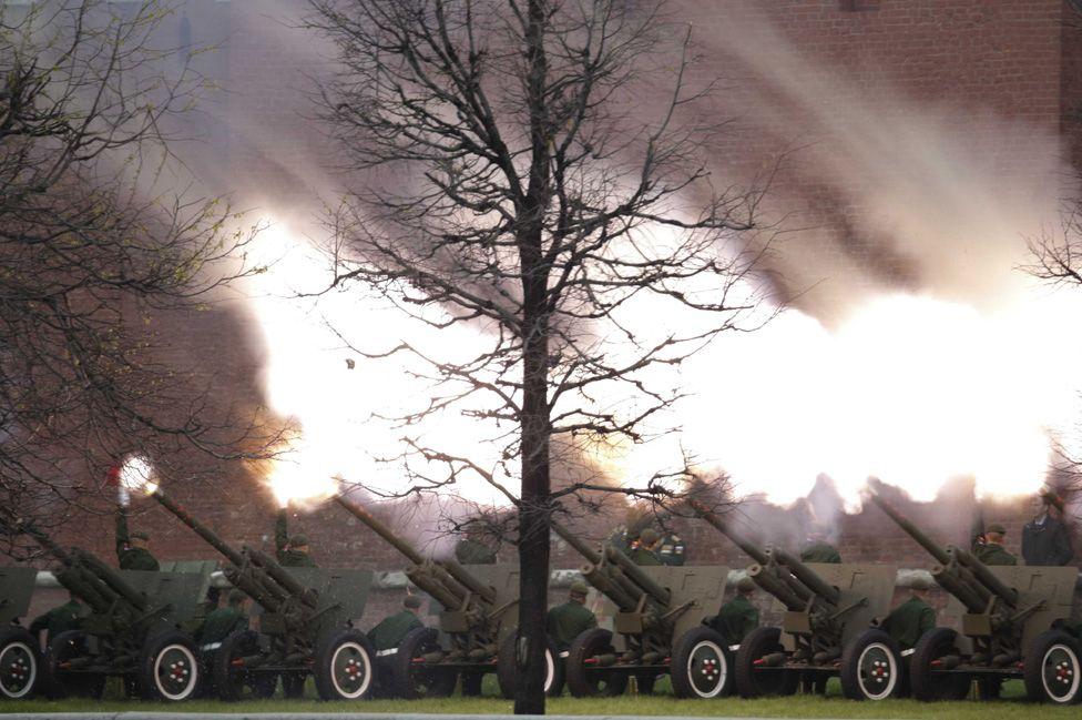 Artillery salvo, 9 May 17