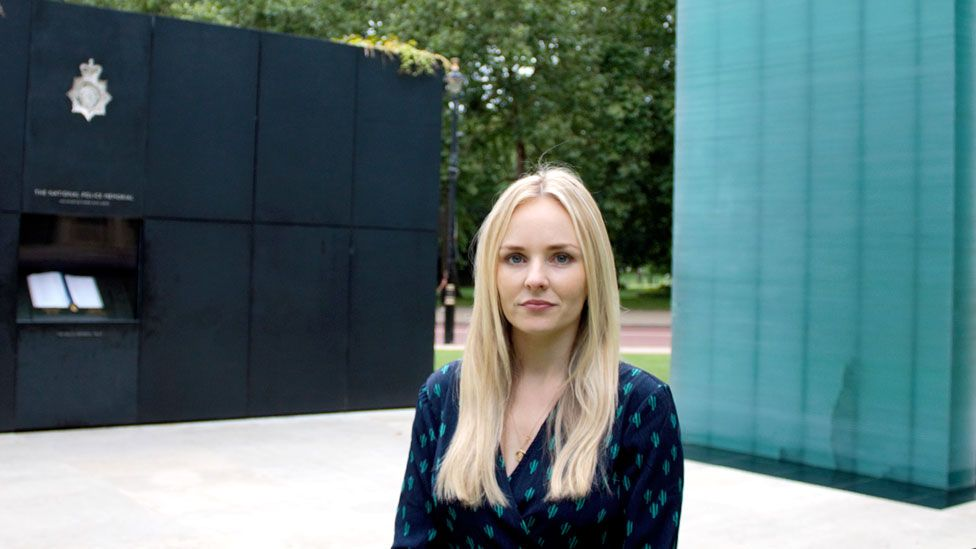 Lissie Harper at the National Police Memorial in central London