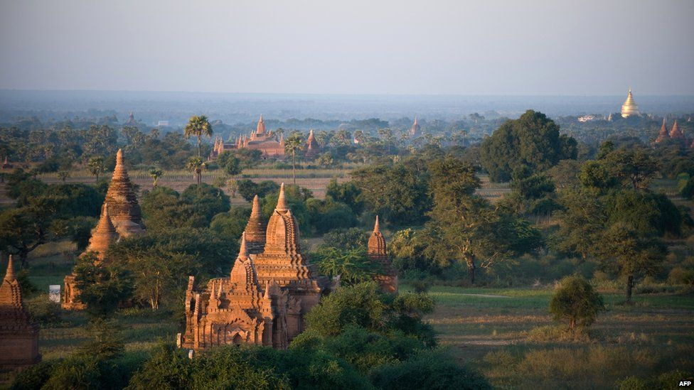 The ruins of the historic city of Bagan, in Myanmar