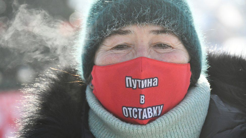 protester in vladivostok