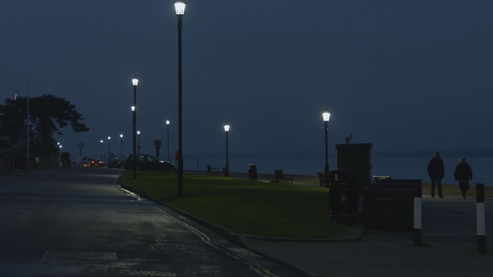Evening scene on the sea front