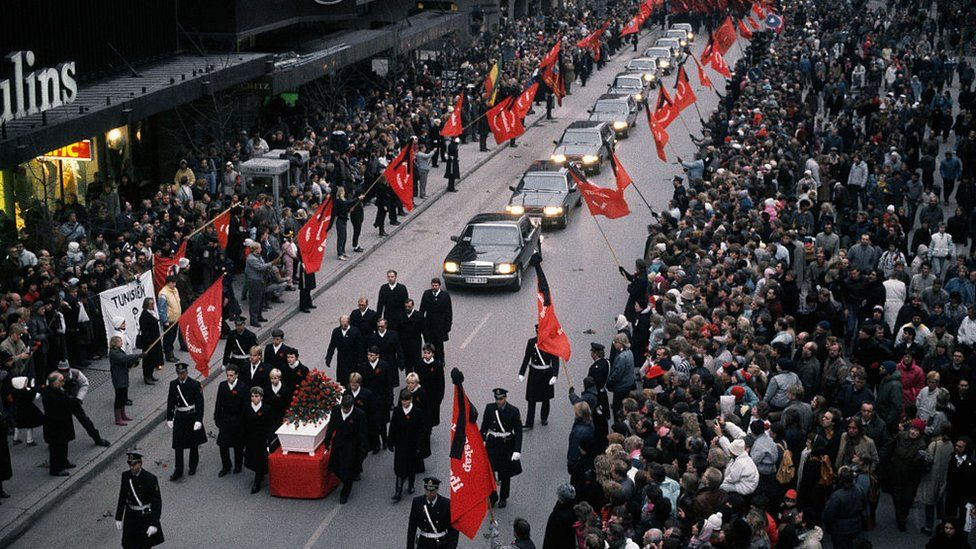 Olof Palme's funeral