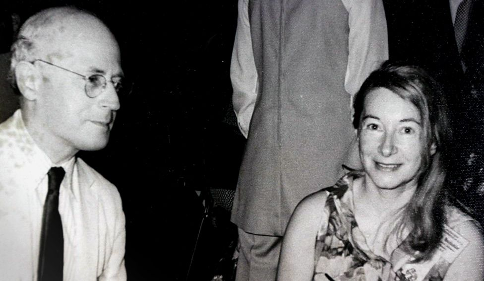 Anna-Teresa Tymieniecka with her husband Hendrik Houthakker