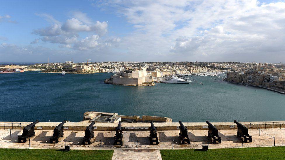 The Grand Harbour in Valletta, Malta