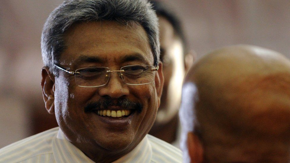 Gotabhaya Rajapaksa during a Buddhist ceremony in Colombo on March 21, 2012
