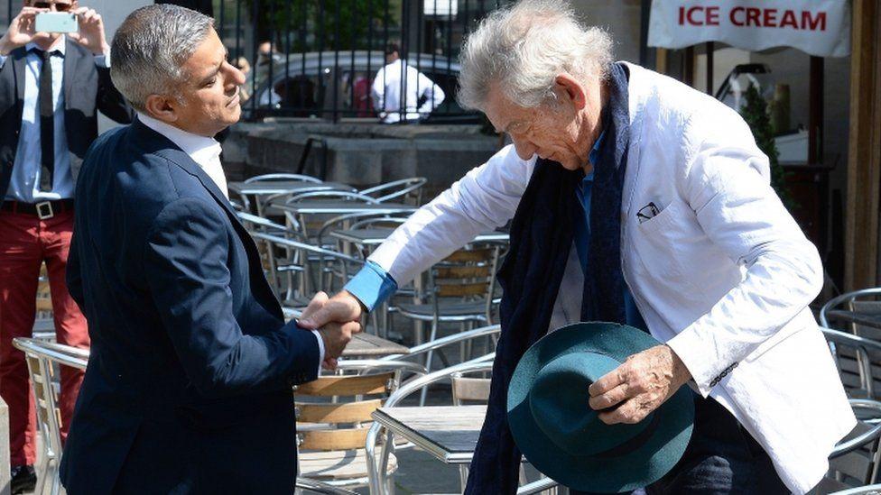 Sadiq Khan with Sir Ian McKellen