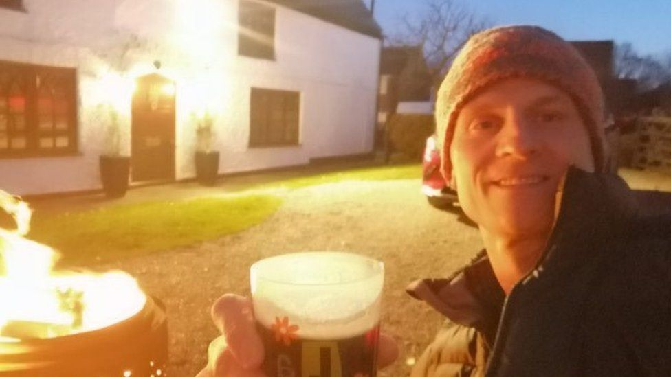 Christian Brailsford outside the home