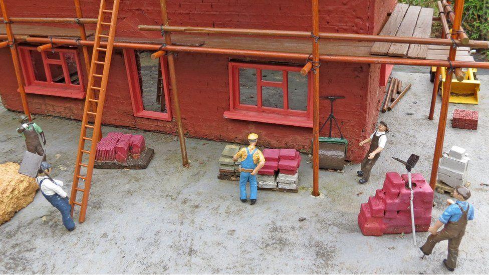 Model builders at Bekonscot model village