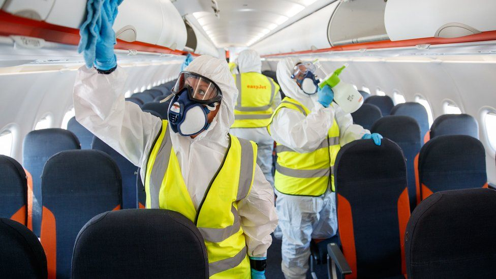 Enhanced cleaning onboard an Easyjet plane