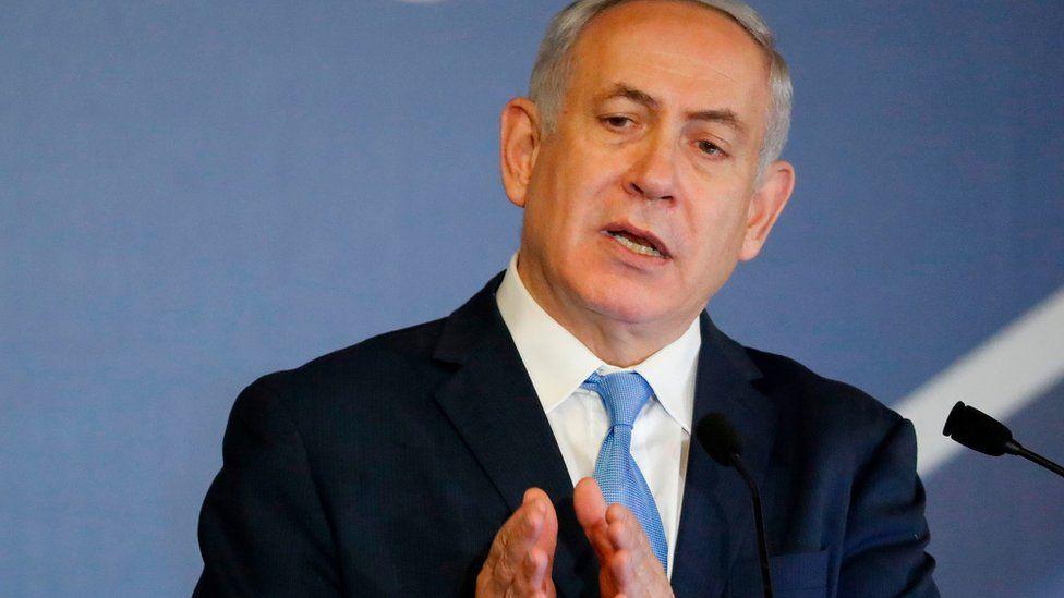 Israeli Prime Minister Benjamin Netanyahu addresses American-Jewish leaders in Jerusalem on February 21, 2018