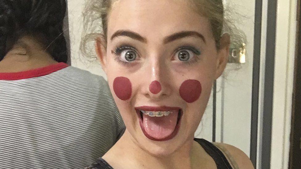 Anna in drama makeup